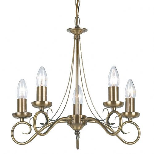 Antique Brass 5-Light Fitting 180-5AN